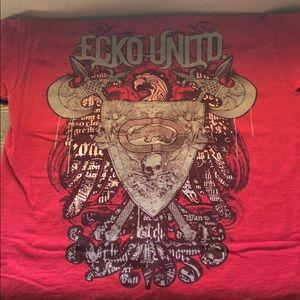 ECKO UNLTD. RCVA. and a novelty tshirt.